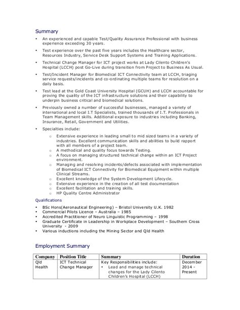 test manager resume template mdavie resume test manager jan 15