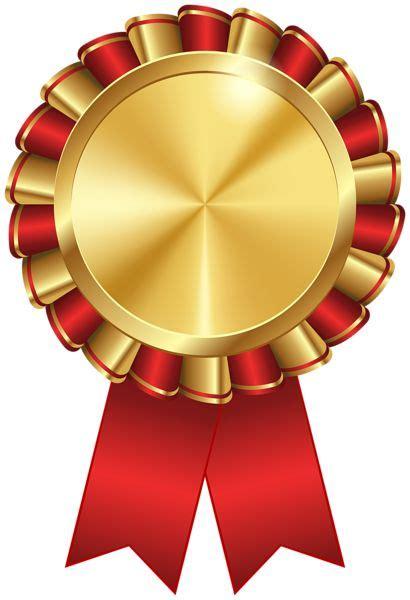 rosette ribbon red transparent image certificate design
