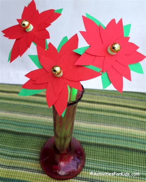 poinsettia flower craft printable template
