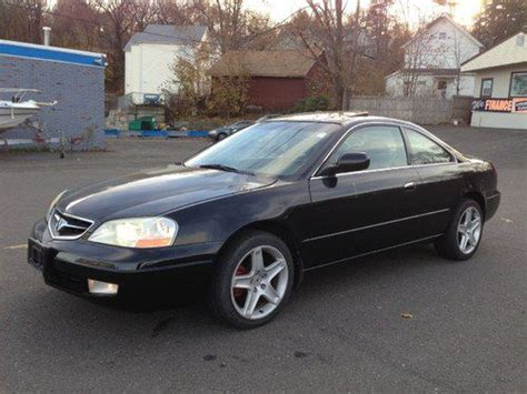 purchase used 2001 acura cl type s coupe 2 door 3 2l black black exc condt no reserve in