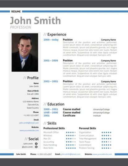 modern resume template trendy resumes