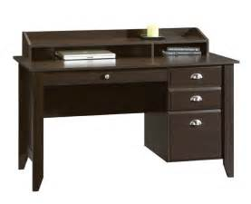 Sauder Shoal Creek Desk Jamocha Wood by Small Computer Desk With File Drawer Whereibuyit Com