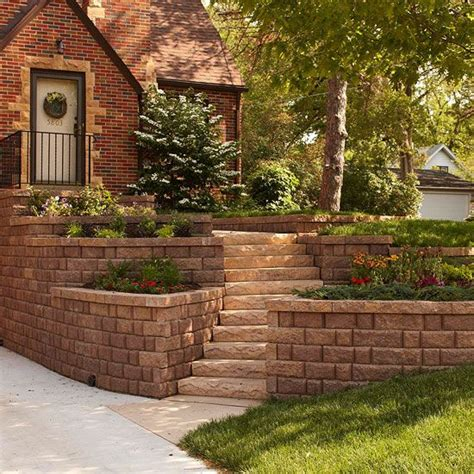 lawn retaining wall ideas curb appeal on a dime style front yards and the step