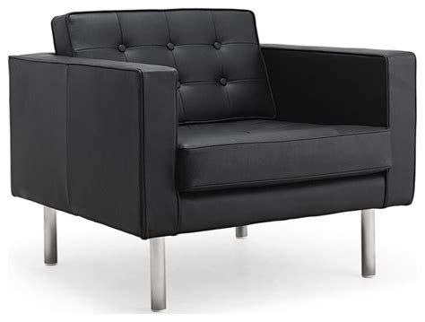 chelsea black leather easy chair modern armchairs and