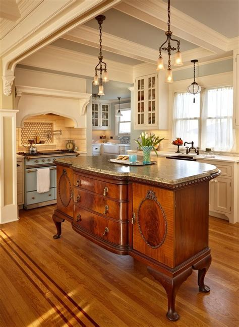 vintage sideboard  beautiful kitchen island