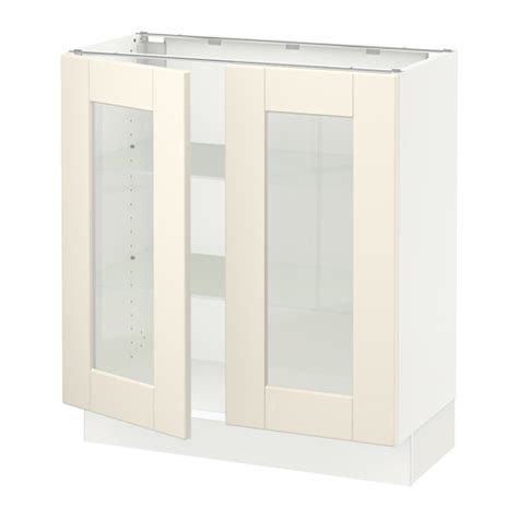 kitchen base cabinets with glass doors sektion base cabinet with 2 glass doors white grimslöv