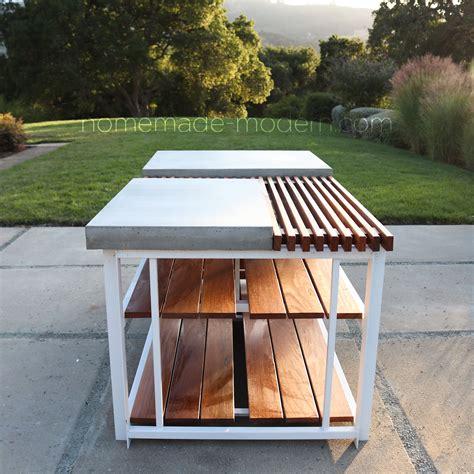 homemade modern ep diy outdoor kitchen island  diy
