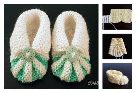 simple  cute baby knitting booties  pattern