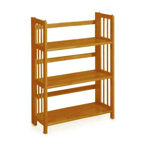 Home Bookcase by Home Decorators Collection Honey Oak Folding Stacking Open