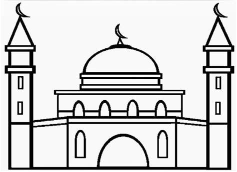 gambar masjid untuk mewarnai anak