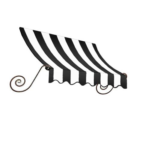 awntech charleston   wide    projection blackwhite striped slope  eave window