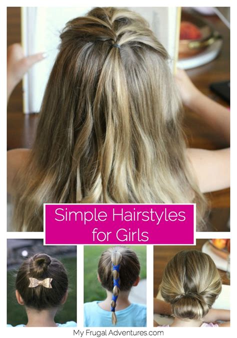 5 simple hairstyles for girls my frugal adventures