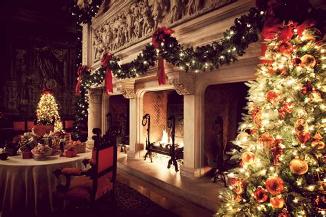 christmas fireplace fire holiday festive decorations j