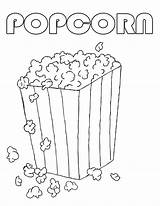 Popcorn Coloring Pages Printable Box Machine Sweet Drawing Template Sheets Clipart Popping Bucket National Sheet Sketch Coloringhome Colored Popular Kernel sketch template