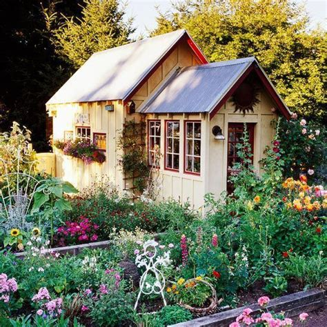 Cottage Style Backyards by Carefree Cottage Style Garden Shed Barns Sheds Chicken