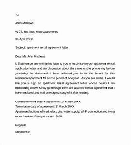 8 basic rental agreement letter templates sample templates for Apartment rental agreement letter sample