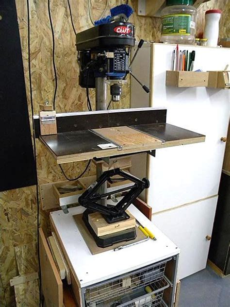 bench drill press stand plans woodworking projects