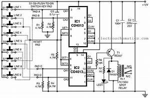 Wiring Pre Circuit Diagram  Simple Code Lock
