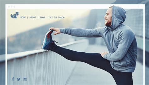 fitness  sports website templates   wix