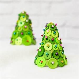 DIY Button Christmas Trees Hey Let39s Make Stuff