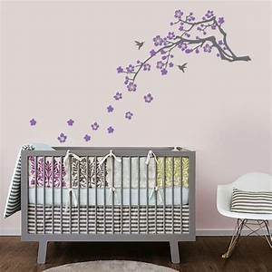 Cherry blossom branch vinyl wall decal by in an instant for Kitchen cabinets lowes with japanese cherry blossom wall art