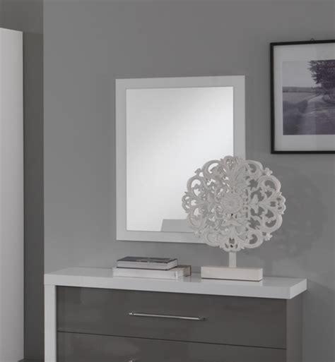 miroir chambre miroir ancona bicolore laque blanc gris chambre à coucher