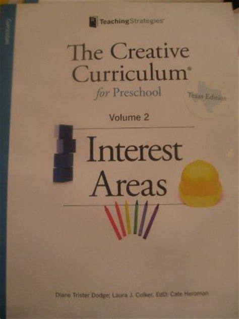 the creative curriculum for preschool interest areas vol 251 | 9781606173701