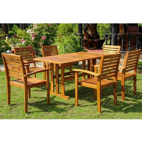 7 wood patio dining set tt re 007 1b 043 6ch
