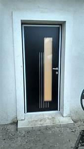 remplacement porte d39entree bois par une porte aluminium k With remplacement porte d entrée