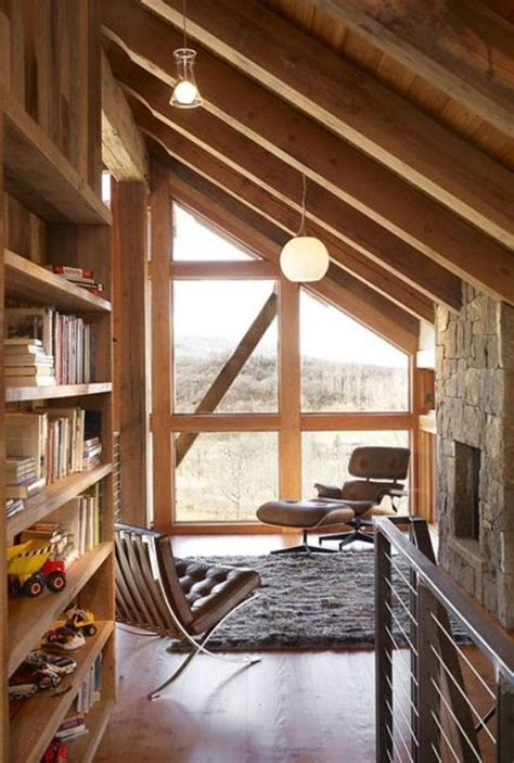 wooden attic library designs homemydesign