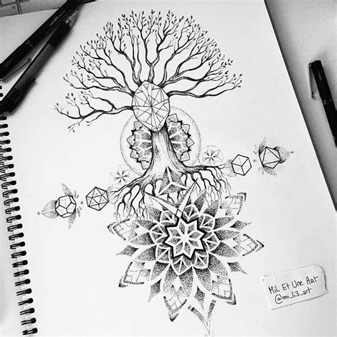 arbre mandala mandalas pinterest