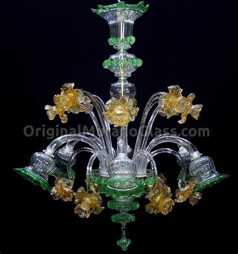 Chandeliers Glass by Chandelier Orchidea Floral Murano Glass