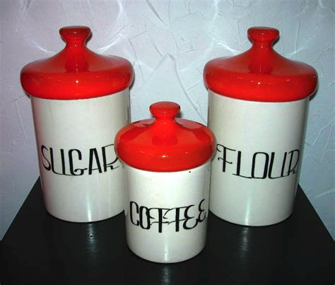 Canisters Flour Sugar by Nvision Cincinnati Handmade Vintage Clothing