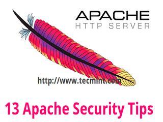 apache web server security  hardening tips