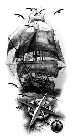 Trash polka nautical sleeve.   nautical trash polka sleeve #209501   CreateMyTattoo.com