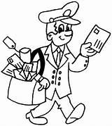 Postman Kleurplaten Beroepen Coloring Postbode Juf Milou Tekeningen Jobs Kleurplaat Printable Facteur Dibujos Colorear Profesiones Oficios Drawings Thema Cartoon Eminem sketch template