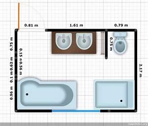 beautiful plan salle de bain en longueur gallery amazing With plan petite salle de bain en longueur