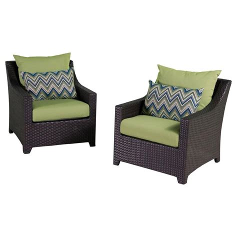 rst brands deco patio club chair with gingko green