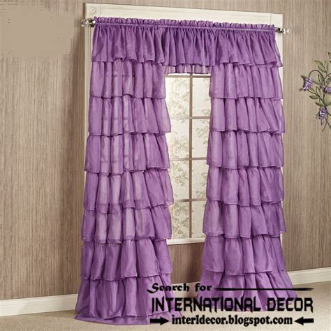 purple ruffle curtains largest catalog of lilac purple curtains and drapes
