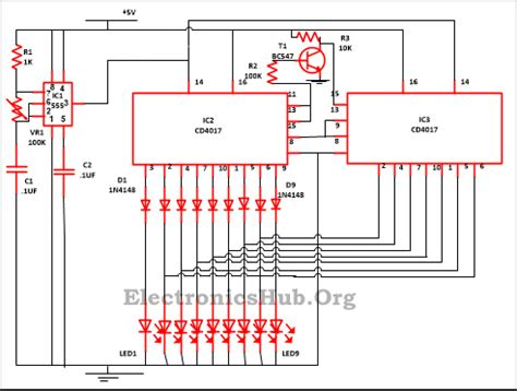 christmas light chaser circuit led running lights circuit
