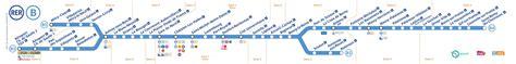 Carte Metro Rer B by Plan Rer B Carte Rer B