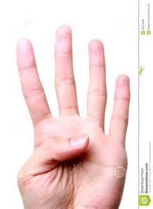 Hand with Finger Number Four