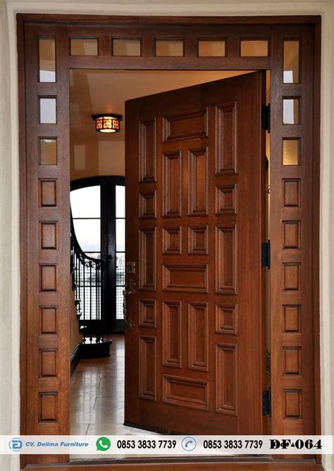 desain pintu rumah utama modern  pintu kuseen daun