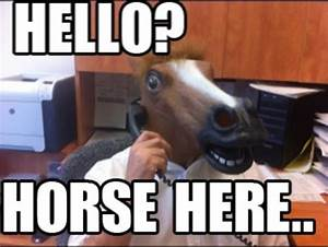 Horse Here... | Horse Head Mask | Know Your Meme