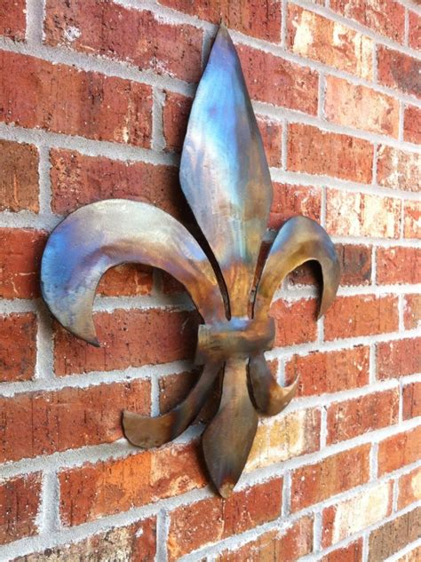 fleur de lis jefferson handmade metal wall decor home decor handcrafted