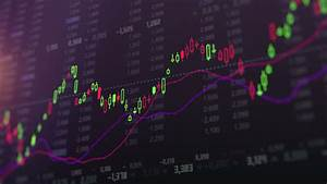 Stock In Candlestick Chart  Business Stock Footage Video