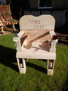 wine drinkers chair   build pinterest wine pallets  pallet projects