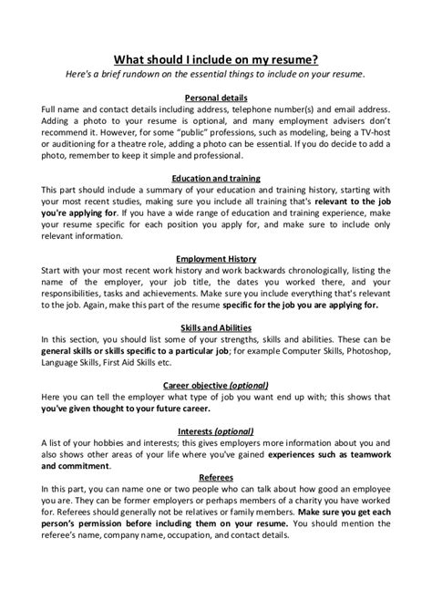 What Does A Resume Need To Include by Resume Template