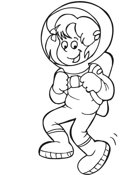 astronaut clipart black and white astronaut kid clipart 22