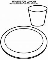 Coloring Lunch Colouring Healthy Plate Glass Eat Sheets Drink Eating Crayola Crafts Children Cartoon Fill Draw Lunches Crayons Clothes Whats sketch template